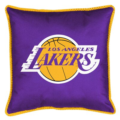 NBA Sidelines Throw Pillow NBA Team: Los Angeles Lakers