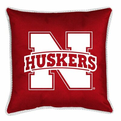 NCAA Nebraska Sidelines Throw Pillow