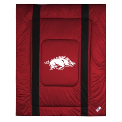 NCAA University of Arkansas Sidelines Comforter Size: Twin