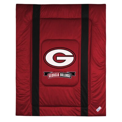 NCAA University of Georgia Sidelines Comforter Size: Twin