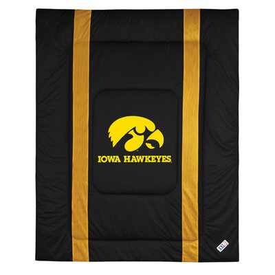 NCAA University of Iowa Hawkeyes Sidelines Comforter Size: Full/Queen