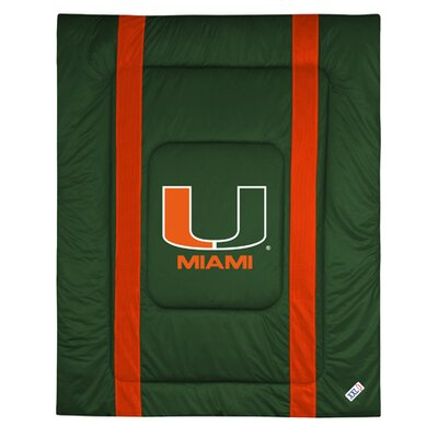 NCAA University of Miami Sidelines Comforter Size: Twin