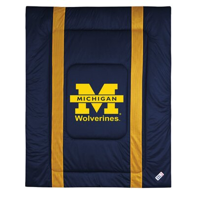 NCAA University of Michigan Sidelines Comforter Size: Twin