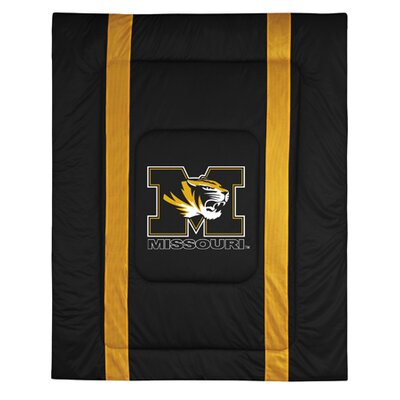 NCAA University of Missouri Sidelines Comforter Size: Twin