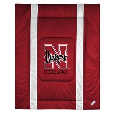 NCAA University of Nebraska Sidelines Comforter Size: Full/Queen