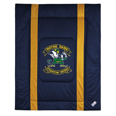 NCAA University of Notre Dame Sidelines Comforter Size: Twin