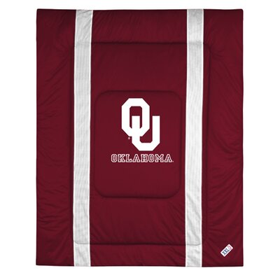 NCAA University of Oklahoma Sidelines Comforter Size: Full/Queen