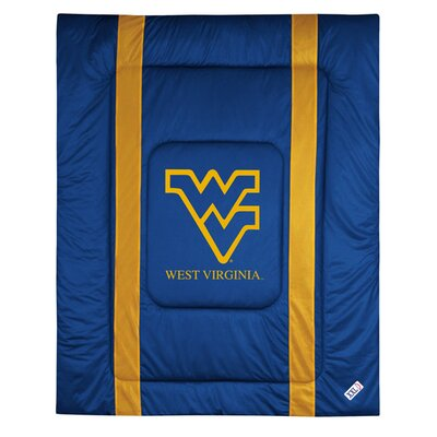 NCAA West Virginia Sidelines Comforter Size: Twin