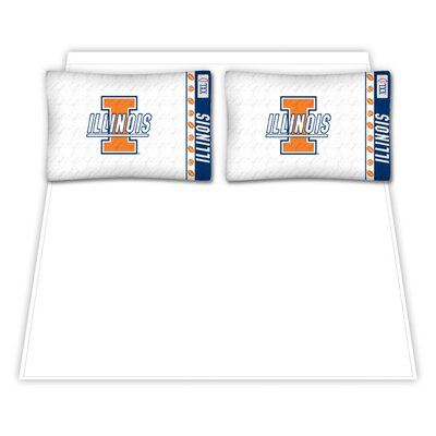 NCAA Illinois Fighting Illini Sheet Set Size: Twin