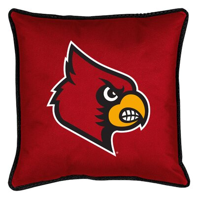 NCAA Sidelines Throw Pillow NCAA Team: Louisville