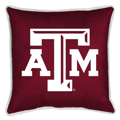 NCAA Sidelines Throw Pillow NCAA Team: Texas A&M
