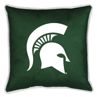 NCAA Sidelines Throw Pillow NCAA Team: Michigan State