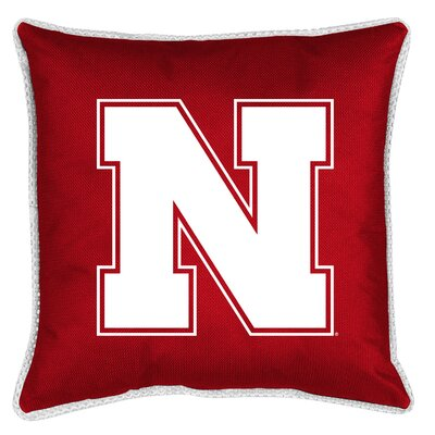 NCAA Sidelines Throw Pillow NCAA Team: Nebraska