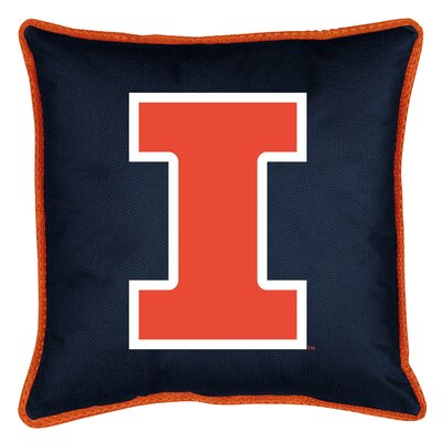 NCAA Sidelines Throw Pillow NCAA Team: Illinois
