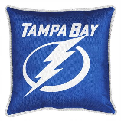 NHL Sidelines Throw Pillow NHL Team: Tampa Bay Lightning