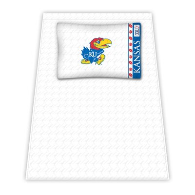 NCAA Kansas University Jayhawks Sheet Set Size: Twin