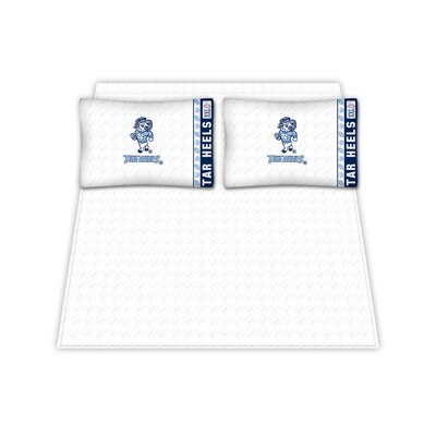 NCAA North Carolina University Tar Heels Sheet Set Size: Queen