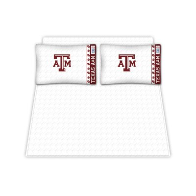 NCAA Texas A and M Aggies Sheet Set Size: Queen