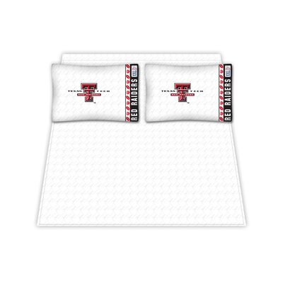 NCAA Texas Tech Red Raiders Sheet Set Size: Full