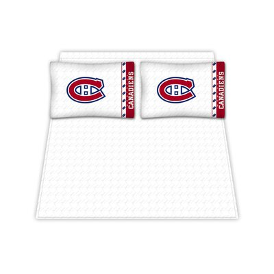 NHL Montreal Canadiens Sheet Set Size: Queen