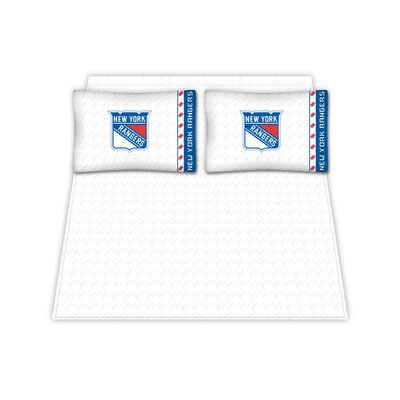 NHL New York Rangers Sheet Set Size: Queen