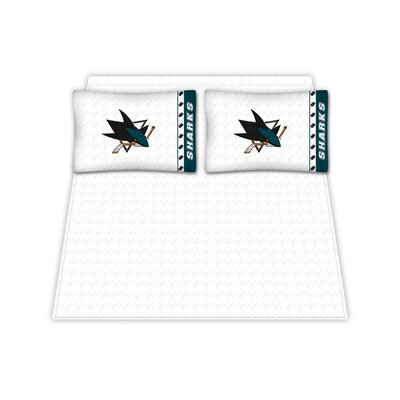 NHL Sheet Set Size: Twin, NHL Team: San Jose Sharks