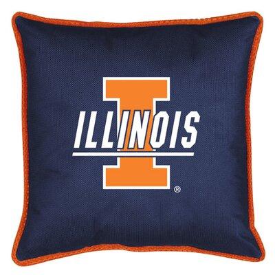 NCAA Illinois Sidelines Throw Pillow