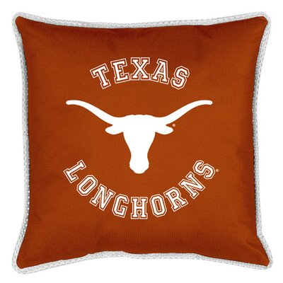 NCAA Sidelines Throw Pillow NCAA Team: Texas