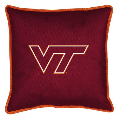 NCAA Sidelines Throw Pillow NCAA Team: Virginia Tech