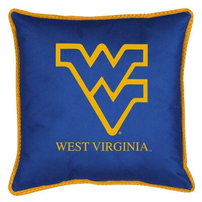 NCAA Sidelines Throw Pillow NCAA Team: West Virginia