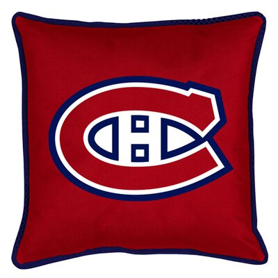 NHL Sidelines Throw Pillow NHL Team: Montreal Canadiens