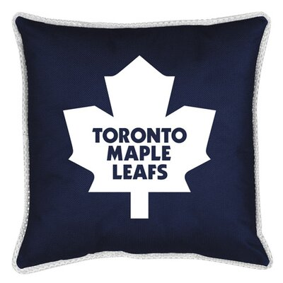 NHL Sidelines Throw Pillow NHL Team: Toronto Maple Leafs