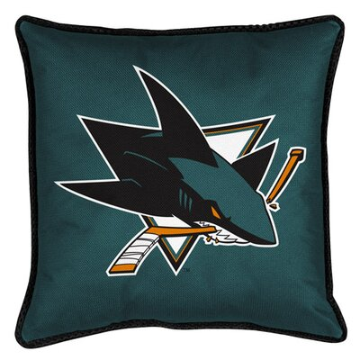 NHL Sidelines Throw Pillow NHL Team: San Jose Sharks