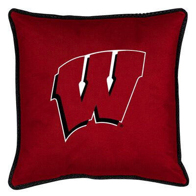 NCAA Sidelines Throw Pillow NCAA Team: Wisconsin