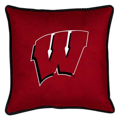 NCAA Sidelines Throw Pillow NCAA Team: Wisconsin