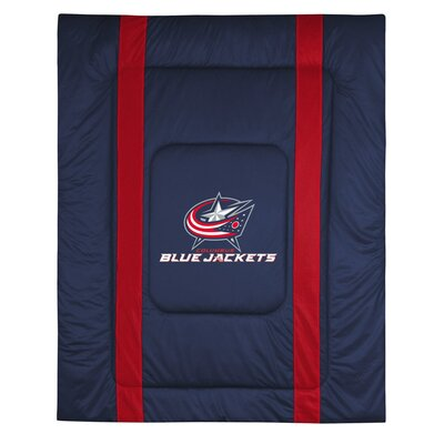 NHL Columbus Blue Jackets Sidelines Comforter Size: Full / Queen