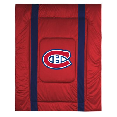 NHL Montreal Canadiens Sidelines Comforter Size: Full / Queen