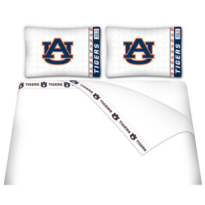NCAA Auburn Tigers Sheet Set Size: Queen