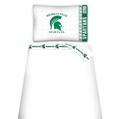 NCAA Michigan State Spartans Sheet Set Size: Queen