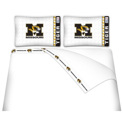 NCAA Missouri Tigers Sheet Set Size: Twin