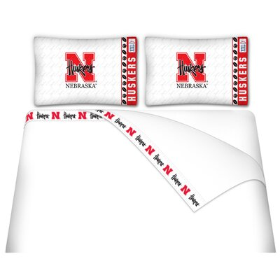 NCAA Nebraska Cornhuskers Sheet Set Size: Twin