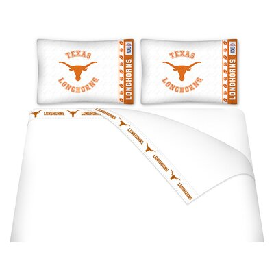 NCAA Texas University Longhorns Sheet Set Size: Queen
