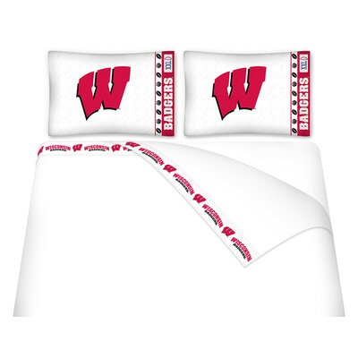 NCAA Wisconsin Badgers Sheet Set Size: Full