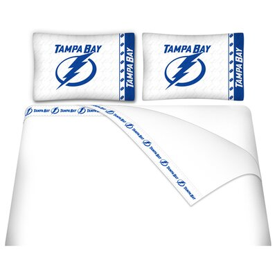 NHL Tampa Bay Lightning Sheet Set Size: Twin