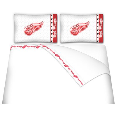 NHL Detriot Red Wings Sheet Set Size: Queen