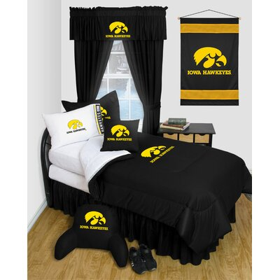 NCAA Iowa Bed Skirt Size: Queen