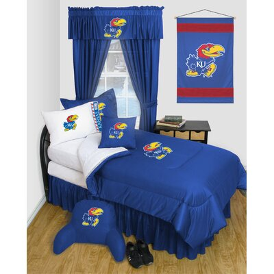 NCAA Kansas Bed Skirt Size: Twin