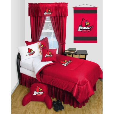 NCAA Louisville Bed Skirt Size: Twin