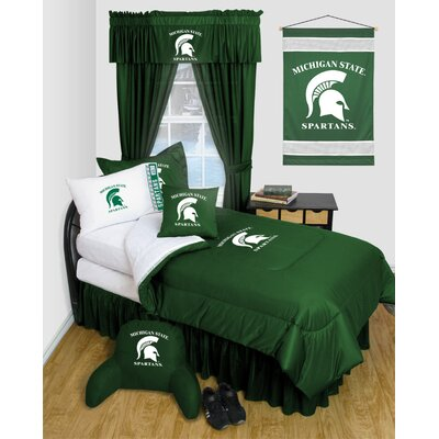 NCAA Michigan State Bed Skirt Size: Queen