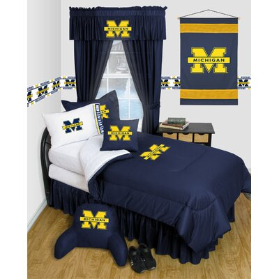NCAA Michigan Bed Skirt Size: Full